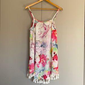Floral Angel Biba Dress with Tassels Size AU 10